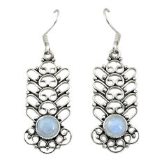 Clearance Sale- Natural blue labradorite 925 sterling silver dangle earrings d19857