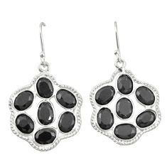 Clearance Sale- Natural black onyx 925 sterling silver dangle earrings jewelry d19982