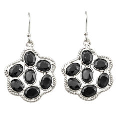 Natural black onyx 925 sterling silver dangle earrings jewelry d20081