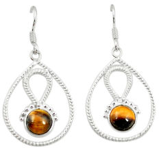 Clearance Sale- 925 sterling silver natural brown tiger's eye dangle earrings jewelry d2019