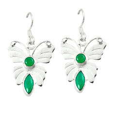 Clearance Sale- Green emerald quartz 925 sterling silver butterfly earrings d2032