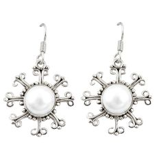 Clearance Sale- Natural white pearl 925 sterling silver dangle earrings jewelry d20509