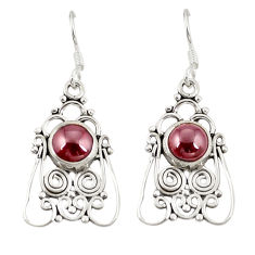 Clearance Sale- Natural red garnet 925 sterling silver dangle earrings jewelry d20583