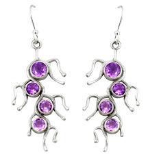 methyst 925 sterling silver dangle earrings d22168