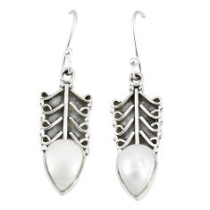 Natural white pearl 925 sterling silver dangle earrings jewelry d23021