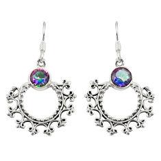 925 sterling silver multi color rainbow topaz dangle earrings jewelry d23064