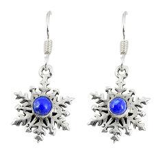 ver natural blue lapis lazuli round dangle earrings d23119