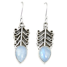 925 sterling silver natural rainbow moonstone dangle earrings jewelry d23139