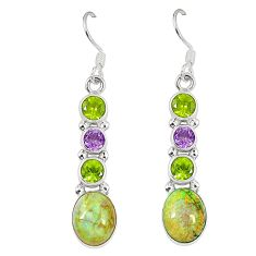 925 sterling silver multi color sterling opal peridot dangle earrings d23168