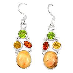 925 sterling silver multi color sterling opal peridot dangle earrings d23179