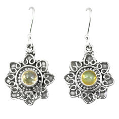 Clearance Sale- Natural multi color ethiopian opal 925 sterling silver dangle earrings d23271