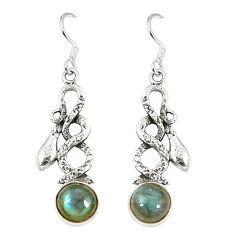 925 sterling silver natural blue labradorite snake earrings jewelry d23378