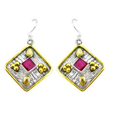 Clearance Sale- lver two tone dangle earrings jewelry d2363