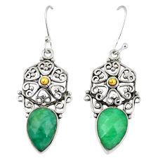 925 sterling silver green emerald quartz dangle earrings jewelry d23671