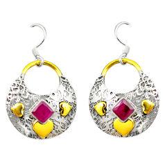 Clearance Sale- lver two tone dangle earrings jewelry d2371
