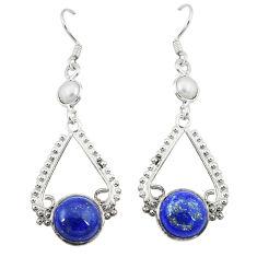 pearl 925 silver dangle earrings d2443