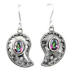 Multi color rainbow topaz 925 sterling silver earrings jewelry d25117