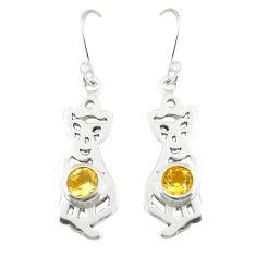 itrine 925 sterling silver dangle cat earrings d25147
