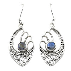 Clearance Sale- Natural blue labradorite 925 sterling silver dangle earrings d25153
