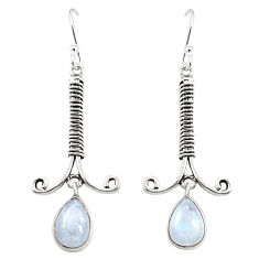 925 sterling silver natural rainbow moonstone dangle earrings jewelry d25211