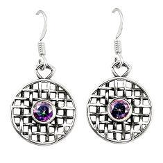 925 sterling silver multi color rainbow topaz dangle earrings jewelry d25253