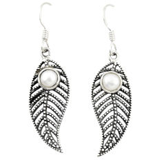 925 sterling silver natural white pearl dangle earrings jewelry d25277