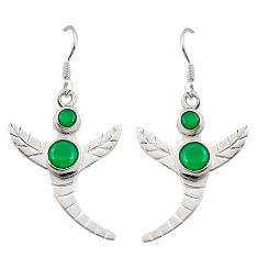 925 sterling silver green emerald quartz dangle earrings jewelry d25286