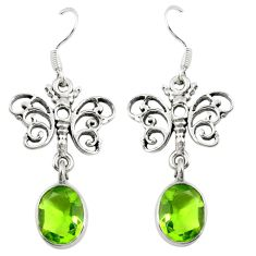 925 sterling silver green peridot quartz butterfly earrings jewelry d25354