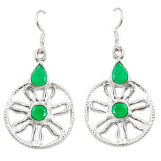 925 sterling silver natural green chalcedony dangle earrings jewelry d25376