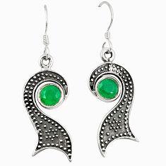 Green emerald quartz 925 sterling silver dangle earrings jewelry d25438