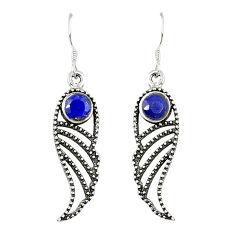 Brown smoky topaz 925 sterling silver dangle earrings jewelry d25439