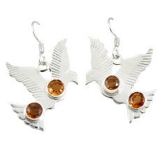 925 sterling silver brown smoky topaz dangle earrings jewelry d25524