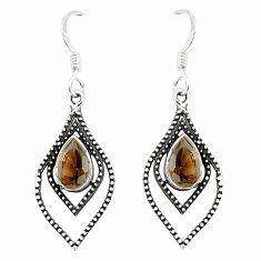 925 sterling silver brown smoky topaz dangle earrings jewelry d25625