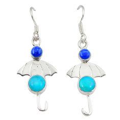 sleeping beauty turquoise dangle earrings jewelry d2570