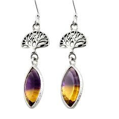 925 sterling silver multi color ametrine (lab) dangle earrings jewelry d26204
