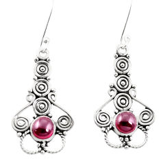 Clearance Sale- Natural red garnet 925 sterling silver dangle earrings jewelry d26383