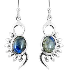 Clearance Sale- Natural blue labradorite 925 sterling silver earrings jewelry d27310