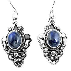 Natural blue labradorite 925 sterling silver dangle earrings jewelry d27572