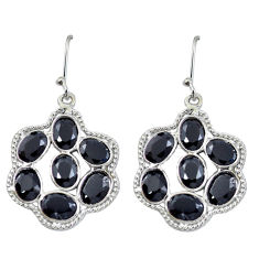 925 sterling silver natural black onyx dangle earrings jewelry d27665