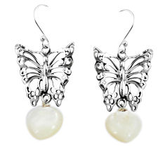 Clearance Sale- 925 sterling silver natural blister pearl butterfly earrings jewelry d27938