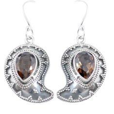 925 sterling silver brown smoky topaz dangle earrings jewelry d29380