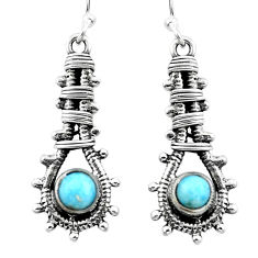925 sterling silver natural blue larimar dangle earrings jewelry d29510