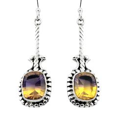 Multi color ametrine (lab) 925 sterling silver dangle earrings d29597