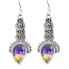 Multi color ametrine (lab) 925 sterling silver dangle earrings d29708