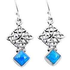 Clearance Sale- Natural blue apatite (madagascar) 925 silver dangle earrings d29802