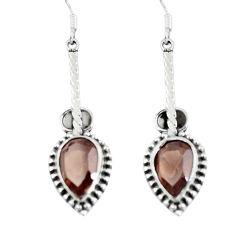Clearance Sale- 925 sterling silver brown smoky topaz dangle earrings jewelry d29824