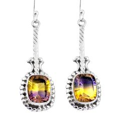 Multi color ametrine (lab) 925 sterling silver dangle earrings d29948