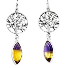 925 silver multi color ametrine (lab) tree of life earrings jewelry d29956