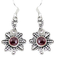 Clearance Sale- Natural red garnet 925 sterling silver dangle earrings jewelry d29961