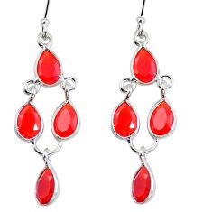 Natural honey onyx 925 sterling silver chandelier earrings jewelry d29969